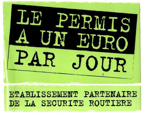 permis 1€ par jour à Fontenay