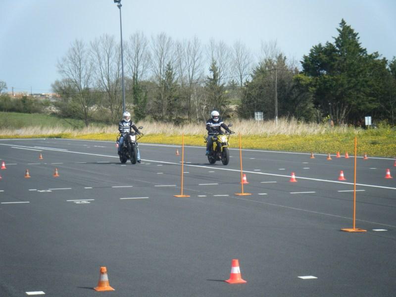 Piste de permis moto à Fontenay Le Comte et Luçon