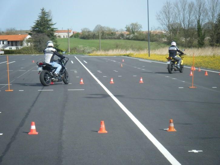 Piste permis moto à Fontenay et Luçon